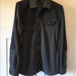 Eddie Bauer fleece button up shirt jacket